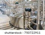 pharmaceutical factory... | Shutterstock . vector #750722911