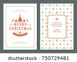 christmas greeting card design... | Shutterstock .eps vector #750729481