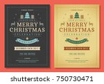 christmas party invitation... | Shutterstock .eps vector #750730471