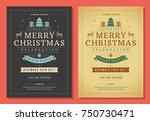 christmas party invitation... | Shutterstock .eps vector #750730471