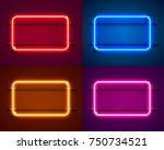 neon frame sign in the shape of ... | Shutterstock .eps vector #750734521