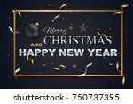merry christmas and happy new... | Shutterstock .eps vector #750737395