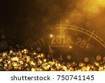 happy new year time gold color... | Shutterstock .eps vector #750741145