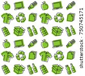 recycle things seamless vector...   Shutterstock .eps vector #750745171