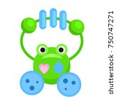 rattle in form of funny green... | Shutterstock .eps vector #750747271