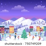 cartoon smiling people of... | Shutterstock .eps vector #750749209