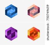 modern abstract design vector... | Shutterstock .eps vector #750749659