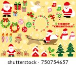 a set of assorted christmas... | Shutterstock .eps vector #750754657