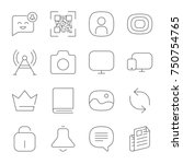 simple web icons set. universal ... | Shutterstock .eps vector #750754765