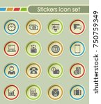 business round sticker icons... | Shutterstock .eps vector #750759349