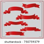 realistic red glossy vector... | Shutterstock .eps vector #750759379