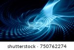 abstract blue background... | Shutterstock . vector #750762274