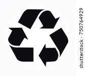 recycle ecology icon | Shutterstock .eps vector #750764929