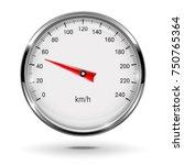 Speedometer. Round Gage With...