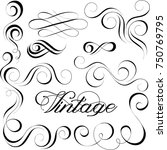 collection of vector... | Shutterstock .eps vector #750769795