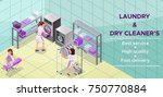 dry cleaners or laundry service ... | Shutterstock .eps vector #750770884