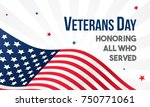 veterans day vector... | Shutterstock .eps vector #750771061
