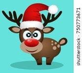 christmas reindeer. christmas... | Shutterstock . vector #750773671