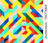 abstract 1980 memphis geometric ...   Shutterstock .eps vector #750776809