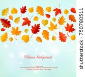 autumn background with leaves. | Shutterstock .eps vector #750780511