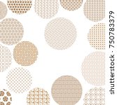 golden circles with different... | Shutterstock .eps vector #750783379