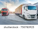 rest area for heavy trucks | Shutterstock . vector #750783925