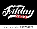 black friday sale typography in ... | Shutterstock .eps vector #750788221