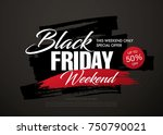 black friday sale banner layout ... | Shutterstock .eps vector #750790021