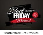 black friday sale banner layout ... | Shutterstock .eps vector #750790021