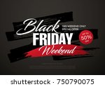 black friday sale banner layout ... | Shutterstock .eps vector #750790075