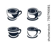 abstract coffee cup icon | Shutterstock .eps vector #750790081