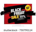 black friday sale banner layout ... | Shutterstock .eps vector #750790114