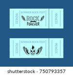 summer rock fest collection of...   Shutterstock .eps vector #750793357