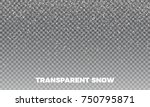 snow. vector transparent snow... | Shutterstock .eps vector #750795871