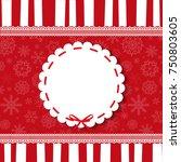 holiday round vintage template... | Shutterstock .eps vector #750803605