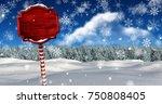 digital composite of wooden... | Shutterstock . vector #750808405