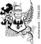 heraldic helmet coat of arms in ... | Shutterstock .eps vector #75081103