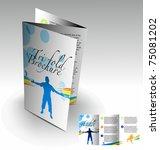 tri fold brochure design... | Shutterstock .eps vector #75081202