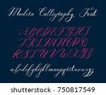 vector modern calligraphy...   Shutterstock .eps vector #750817549