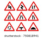 traffic road signs set isolated ... | Shutterstock .eps vector #750818941