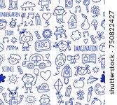 seamless pattern school ... | Shutterstock .eps vector #750822427