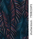 tropical seamless pattern with... | Shutterstock . vector #750822691