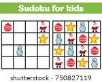 sudoku game for children with... | Shutterstock .eps vector #750827119