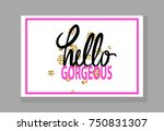 hello gorgeous colorful... | Shutterstock .eps vector #750831307