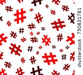 hashtag icon seamless pattern.... | Shutterstock .eps vector #750831781