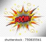 comic book vector art. boom  | Shutterstock .eps vector #750835561