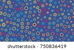 seamless circles pattern with... | Shutterstock .eps vector #750836419