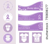 world prematurity day banners ... | Shutterstock .eps vector #750838177