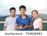 asian family travel trip with... | Shutterstock . vector #750838981