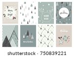 merry christmas cards.... | Shutterstock .eps vector #750839221